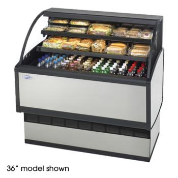 "FEDLPRSS6 - Federal - LPRSS6 - 72"" Low Profile Refrigerated Merchandiser Product Image"