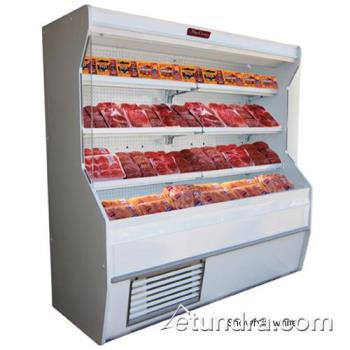"HWDSCM32E6LSB - Howard McCray - SC-M32E-6-LS-B - 74"" x 72"" Black Meat Merchandiser Product Image"