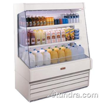 "HWDSCOD30E4LLS - Howard McCray - SC-OD30E-4L-LS - 51"" x 60"" White Dairy Merchandiser Product Image"