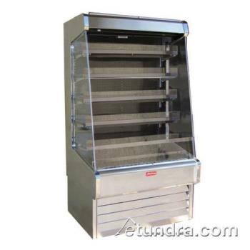 "HWDSCOD30E6LSS - Howard McCray - SC-OD30E-6-LS-S - 75"" x 72"" Stainless Dairy Merchandiser Product Image"