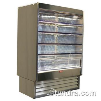 "HWDSCOD35E6LSS - Howard McCray - SC-OD35E-6-LS-S - 75"" x 78 1/2"" Stainless Dairy Merchandiser Product Image"