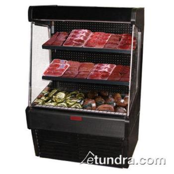 "HWDSCOM30E6LSB - Howard McCray - SC-OM30E-6-LS-B - 75"" x 72"" Black Meat Merchandiser Product Image"