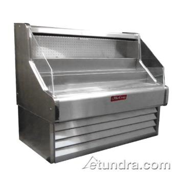 "HWDSCOS30E4SS - Howard McCray - SC-OS30E-4SS - Ovation Stainless Steel 51"" Open Merchandiser Product Image"