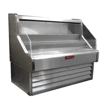 "HWDSCOS30E6SS - Howard McCray - SC-OS30E-6SS - Ovation Stainless Steel 75"" Open Merchandiser Product Image"