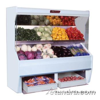 "HWDSCP32E4SB - Howard McCray - SC-P32E-4S-B - 50"" x 72"" Black Produce Merchandiser Product Image"