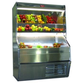 "HWDSCP32E4SS - Howard McCray - SC-P32E-4S-S - 50"" x 72"" Stainless Produce Merchandiser Product Image"