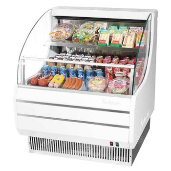 TURTOM30LW - Turbo Air - TOM-30L - 30 in White Low Profile Open Display Merchandiser Product Image