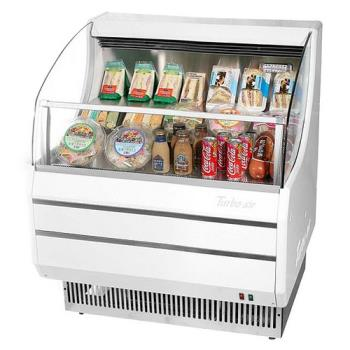 TURTOM30SW - Turbo Air - TOM-30S - 30 in White Slim Line Open Display Merchandiser Product Image