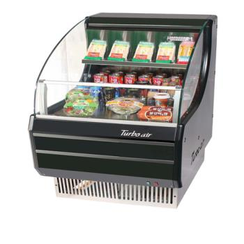 TURTOM30SB - Turbo Air - TOM-30SB - 30 in Black Slim Line Open Display Merchandiser Product Image