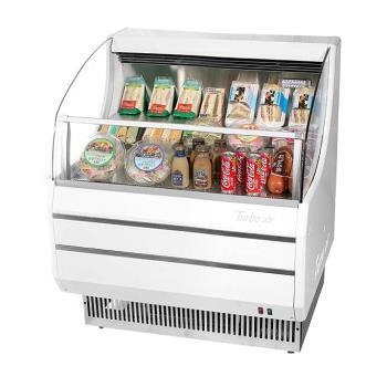 TURTOM30SWN - Turbo Air - TOM-30SW-N - 30 in White Slim Line Open-Display Merchandiser Product Image