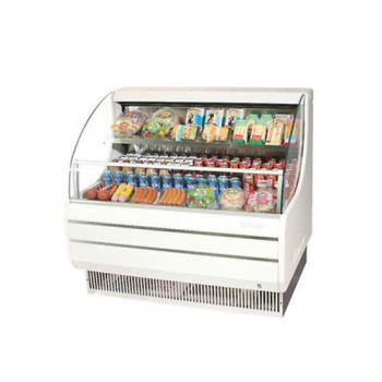 TURTOM40LW - Turbo Air - TOM-40L - White 39 in Low Profile Open Display Merchandiser Product Image