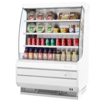 TURTOM40MW - Turbo Air - TOM-40M - White 39 in Mid Height Open Display Merchandiser Product Image