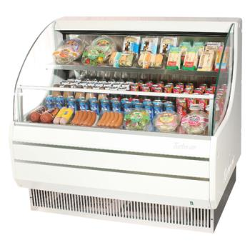 TURTOM50LW - Turbo Air - TOM-50LW - White 51 in Low Profile Open Display Merchandiser Product Image