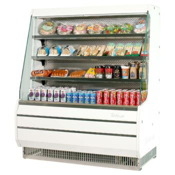 TURTOM50MW - Turbo Air - TOM-50MW - White 51 in Mid Height Open Display Merchandiser Product Image