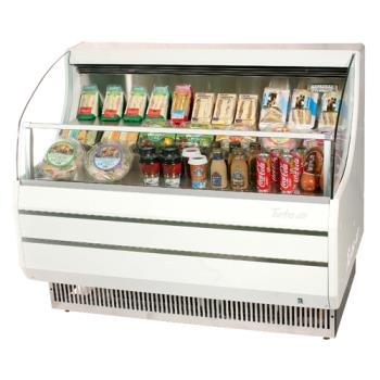 TURTOM50SW - Turbo Air - TOM-50SW - White 51 in Slim Line Open Display Merchandiser Product Image