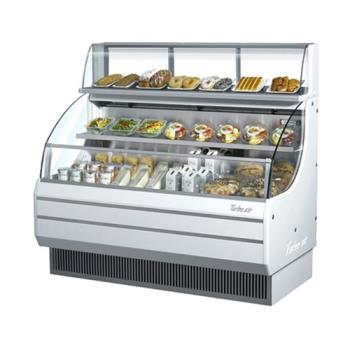 TURTOM60LW - Turbo Air - TOM-60L - 60 in White Low Profile Open Display Merchandiser Product Image