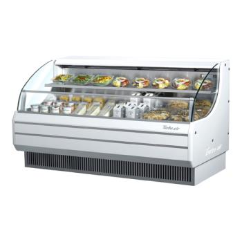 TURTOM75LW - Turbo Air - TOM-75L - 75 in White Low Profile Open Display Merchandiser Product Image