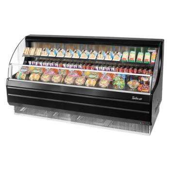 TURTOM75LB - Turbo Air - TOM-75LB - 75 in Black Low Profile Open Display Merchandiser Product Image