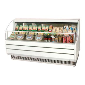 TURTOM75SW - Turbo Air - TOM-75S - 75 in White Slim Line Open Display Merchandiser Product Image