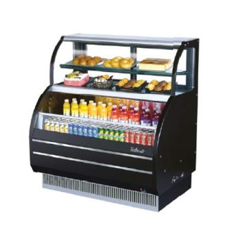 TURTOMW40SB - Turbo Air - TOM-W-40SB - 40 in Black Dual Zone Refrigerated Display Case Product Image