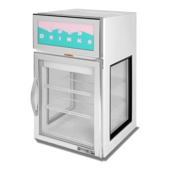 BEVCRD5GE1WG - Beverage Air - CRD5GE-1W-G - 22 in Countertop Refrigerator w/ Glass Ends Product Image