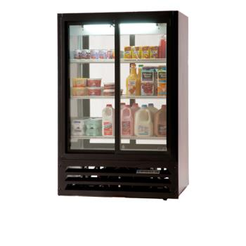 BEVLV151B54 - Beverage Air - LV15-1-B-54 - 36 in Lumavue™ Pass Thru Merchandiser with Sliding Doors Product Image