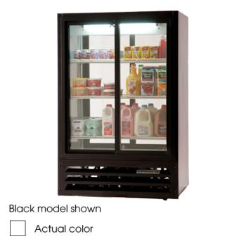 BEVLV151W - Beverage Air - LV15-1-W-LED - 36 in Lumavue™  Merchandiser with Sliding Doors Product Image