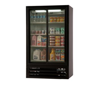 BEVLV171B54 - Beverage Air - LV17-1-B-54-LED - 36 in Lumavue™ Merchandiser Pass Thru  with Sliding Doors Product Image