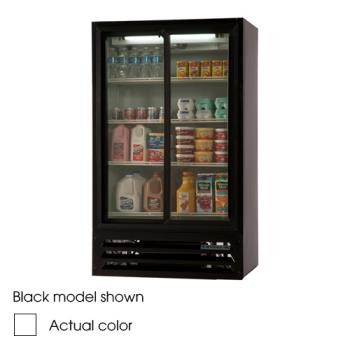 BEVLV171W - Beverage Air - LV17-1-W - 36 in Lumavue™ Merchandiser with Sliding Doors Product Image