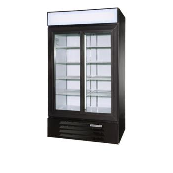 BEVLV381BLED - Beverage Air - LV38-1-B-LED - 43 1/2 in Lumavue™ Merchandiser with LED & Sliding Doors Product Image