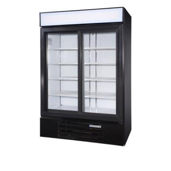 BEVLV451BLED - Beverage Air - LV45-1-B-LED - 52 in Lumavue™ Merchandiser with LED & Sliding Doors Product Image