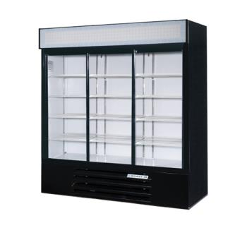 BEVLV66Y1BLED - Beverage Air - LV66Y-1-B-LED - 75 in Lumavue™ Merchandiser with LED & Sliding Doors Product Image