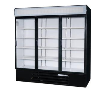 BEVLV72Y1BLED - Beverage Air - LV72Y-1-B-LED - 75 in Lumavue™ Merchandiser with LED & Hinged Doors Product Image