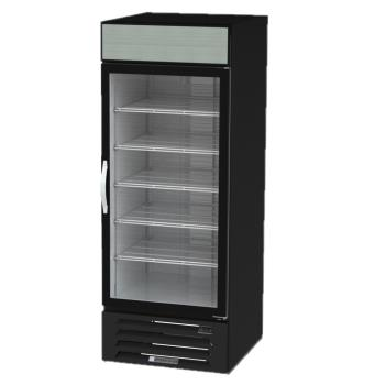BEVMMR27HC1B - Beverage Air - MMR27HC-1-B - 27 cu ft Black 1 Door MarketMax Merchandiser Fridge Product Image