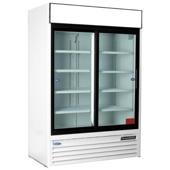 NORNLGR48S - Nor-Lake - NLGR48S-B - 48 cu/ft Refrigerated Merchandiser w/ 2 Sliding Doors Product Image