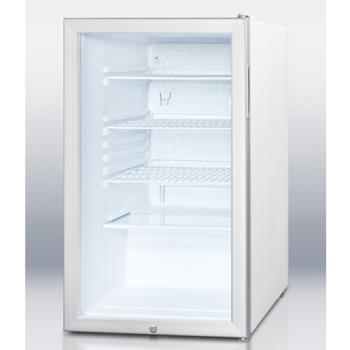 SUMSCR450LBI - Summit - SCR450LBI - Glass Door Refrigerator Product Image