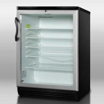 SUMSCR600BL - Summit - SCR600BL - Black Glass Door Refrigerator Product Image