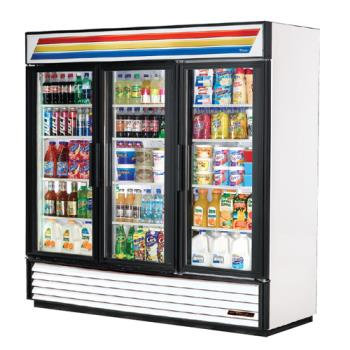 TRUGDM72 - True - GDM-72-HC-LD - 72 cu ft Refrigerated Merchandiser w/ 3 Swing Doors Product Image