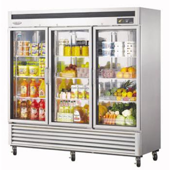 TURMSR72G3 - Turbo Air - MSR-72G-3 - Maximum Series Refrigerated Merchandiser w/ 3 Swing Doors Product Image