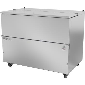 BEV0SM49HCS - Beverage Air - SM49HC-S - 49 in Stainless Steel Single Access Milk Cooler Product Image