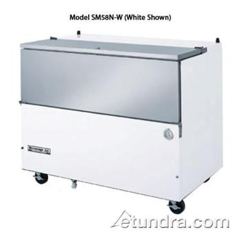 BEVSM58NS - Beverage Air - SM58N-S - 58 1/2 in Stainless Steel Cold Wall Milk Cooler Product Image