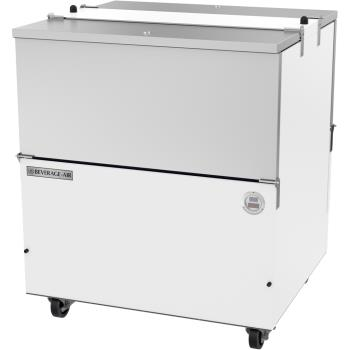 BEV0ST34HCW - Beverage Air - ST34HC-W - 34 in White Dual Access Milk Cooler Product Image