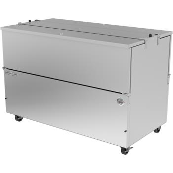 BEV0ST58HCS - Beverage Air - ST58HC-S - 58 in Stainless Steel Dual Access Milk Cooler Product Image