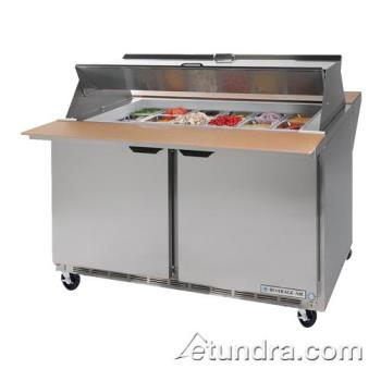 BEVSPE4818MDS - Beverage Air - SPE48-18M-DS - 48 in Dual Sided Mega Top Sandwich Prep Table Product Image