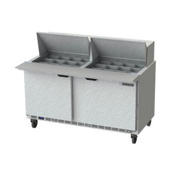 BEVSPE60HC24M - Beverage Air - SPE60HC-24M - 60 in Mega Top Prep Table Product Image