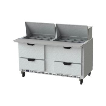 BEVSPED60HC24M4 - Beverage Air - SPED60HC-24M-4 - 60 in 4 Drawer Mega Top Prep Table Product Image