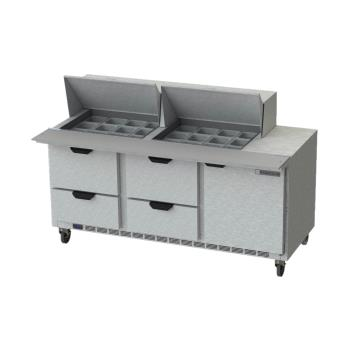 BEVSPED72HC24M4 - Beverage Air - SPED72HC-24M-4 - 72 in 4 Drawer Mega Top Prep Table Product Image