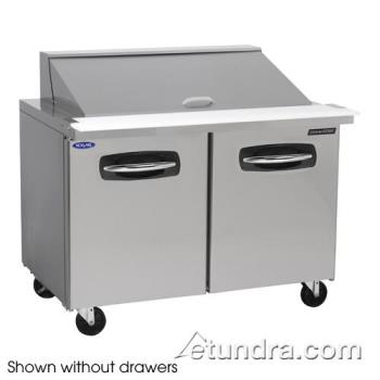 NORNLSMP4818002 - Nor-Lake - NLSMP48-18-002 - AdvantEDGE 2 Drawer 48 in Mega Top Prep Table w/Left Door Product Image