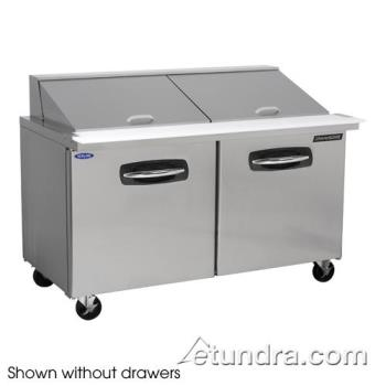 NORNLSMP6024002 - Nor-Lake - NLSMP60-24-002 - AdvantEDGE 2 Drawer 60 in Mega Top Prep Table w/Left Door Product Image