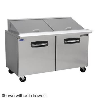 NORNLSMP6024003 - Nor-Lake - NLSMP60-24-003 - AdvantEDGE 2 Drawer 60 in Mega Top Prep Table Product Image
